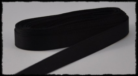 Grosgrain 10mm, zwart - 5 meter