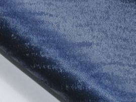 Lapje leer, suede tijgerpint donkerblauw - 20 x 22 cm.