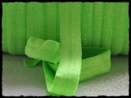 Elastisch band sparkling, groen - 16mm.