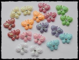 vdp - dubbellaagse vlindertjes - 16 stuks