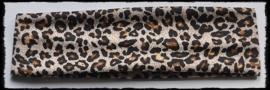 Tricot haarbandje, luipaard bruin - 4 cm.