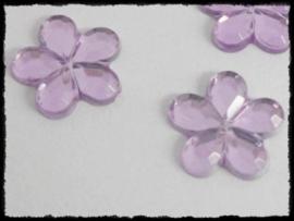 Flatback bloemetjes, lila - 10mm - 10 stuks