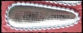 (md) Haarkniphoesjes incl knipjes - zilver satijn - twee stuks