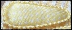 (md) Haarkniphoesjes incl knipjes - geel polkadot, satijn - 2 stuks