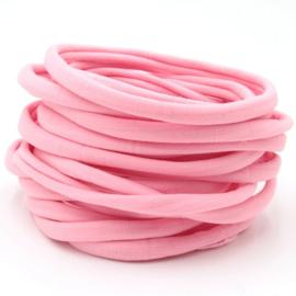 Nylon haarbandje, roze