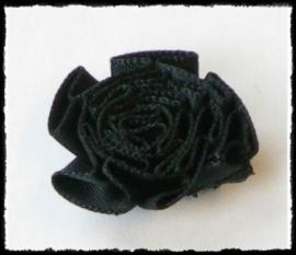 Rozet, zwart - 3 stuks - 25 mm.