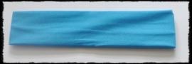 Tricot haarbandje, turquoise - 4 cm..
