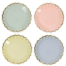 Love Pastel Mix feestartikelen - ronde bordjes (8st)