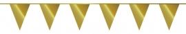 Vlaggenlijn/ vlagslinger metallic goud