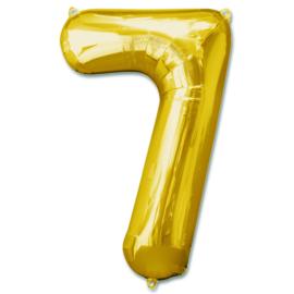 XL Folieballon (92cm) Cijfer 7 | Goud