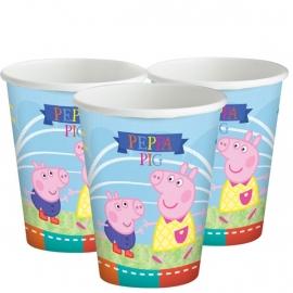 Peppa Pig feestartikelen - bekers (8st)