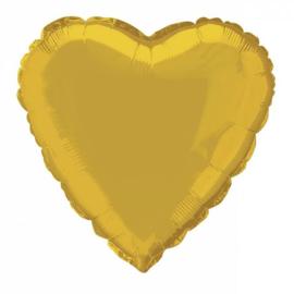 Folie/ helium ballon hart goud