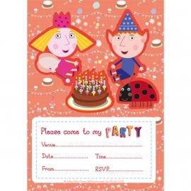 Ben en Holly feestartikelen - uitnodigingen (20st)