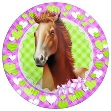 Paarden kinderfeest - borden (8st)