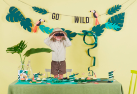 GO WILD JUNGLE PARTY | TIJGER BORDJES (12ST)