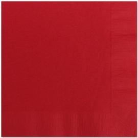 Effen kleur tafelgerei Rood servetten (20st)