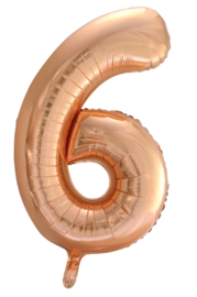 XL Folieballon (92cm) Cijfer 6 | Rose Gold