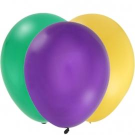 Rupsje Nooitgenoeg feestartikelen effen ballonnen paars (12st)