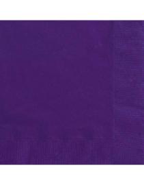 Effen kleur tafelgerei Paars servetten (20st)