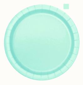 Mint Groen feestartikelen | borden (16st)