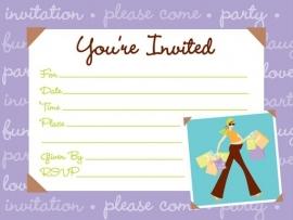 Mommy Chic babyshower uitnodigingen (8st)