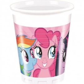 My Little Pony Rainbow feestartikelen - bekers (8st)