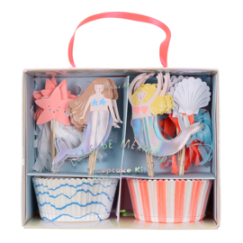 Meri Meri Let's be Mermaids Cupcake Set (48dlg)