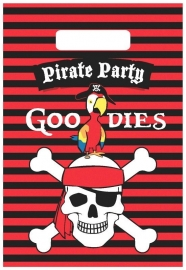 Piraten feestartikelen feestzakjes (6st)