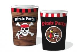 Piraten feestartikelen bekers (8st)