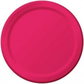Effen kleur tafelgerei Magenta borden (8st)