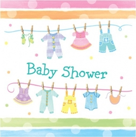"""Babyclothes"" babyshower servetten (16st)"
