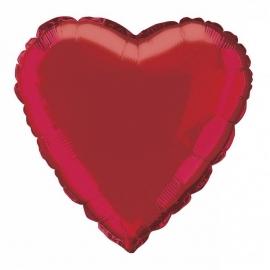 Folie/ helium ballon hart rood