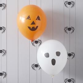 Spooky Spider Halloween feestartikelen - ballonnen (10st)