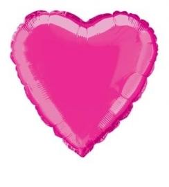 Folie / helium ballon hart roze