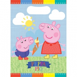 Peppa Pig feestartikelen feestzakjes (8st)