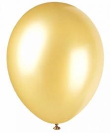 Latex ballonnen metallic goud (10st)