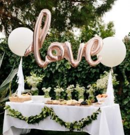 NORTHSTAR folieballon/ tekstballon LOVE rose gold
