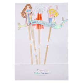 Meri Meri Let's be Mermaids cake toppers (4st)