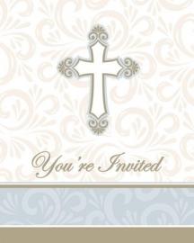 """""""Communie feestartikelen"""" Divinity uitnodigingen (8st)"""