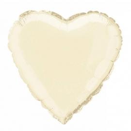 Folie/ helium ballon hart ivoor