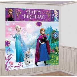 Disney Frozen feestartikelen grote Scene Setter/ muurposter