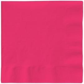 Effen kleur tafelgerei Magenta servetten (20st)