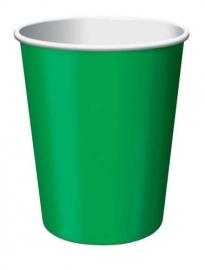 Effen kleur tafelgerei Groen bekers (8st)