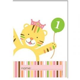 """""""Sweet at one girl"""" 1e verjaardag feestartikelen feestzakjes (8st)"""