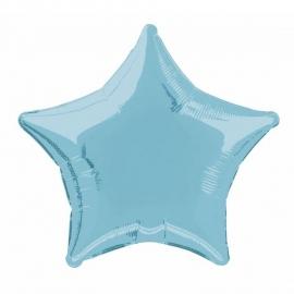 Folie/ helium ballon ster lichtblauw