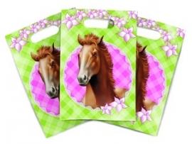 Paarden kinderfeest - traktatiezakjes (6st)