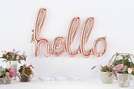 NORTHSTAR folieballon/ tekstballon HELLO rose gold