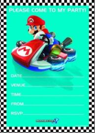 Nintendo Mariokart feestartikelen - uitnodigingen (20st)