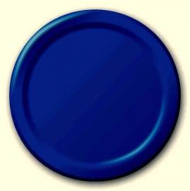 Effen kleur feestartikelen Blauw borden (16st)