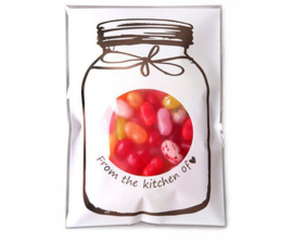 Mason Jar cello bags wit (10st)